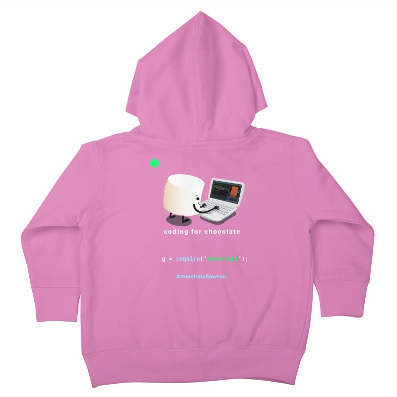 coding for chocolate Kids Toddler Zip-Up Hoody by marshmallowrun's Artist Shop