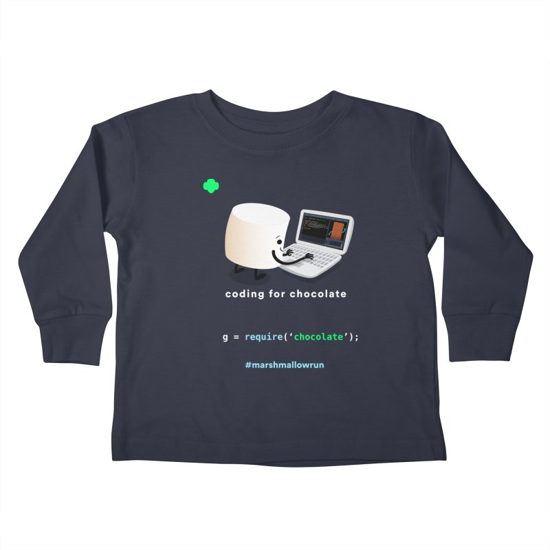 coding for chocolate Kids Toddler Longsleeve T-Shirt by marshmallowrun's Artist Shop