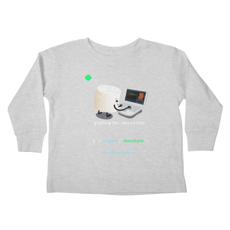 coding for chocolate Kids Toddler Longsleeve T-Shirt by marshmallowrun's Artist Shop