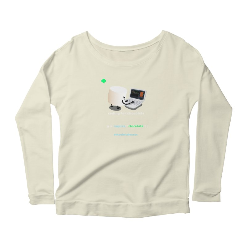 coding for chocolate Women's Scoop Neck Longsleeve T-Shirt by marshmallowrun's Artist Shop