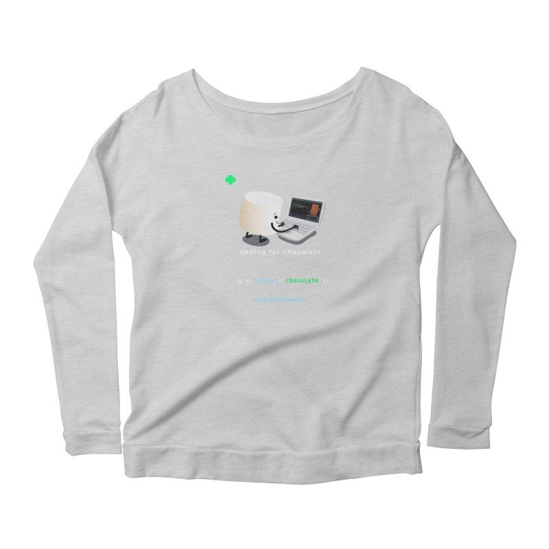 coding for chocolate Women's Scoop Neck Longsleeve T-Shirt by marshmallowrun's Artist Shop