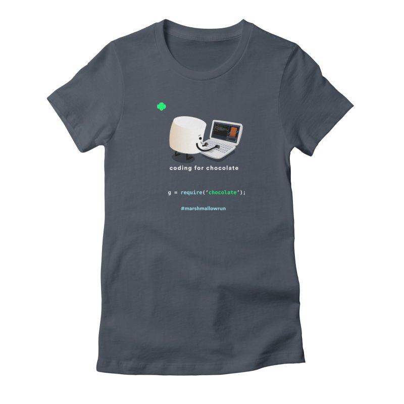 coding for chocolate Women's T-Shirt by marshmallowrun's Artist Shop