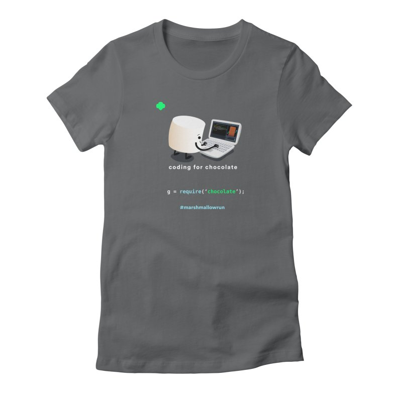 coding for chocolate Women's Fitted T-Shirt by marshmallowrun's Artist Shop
