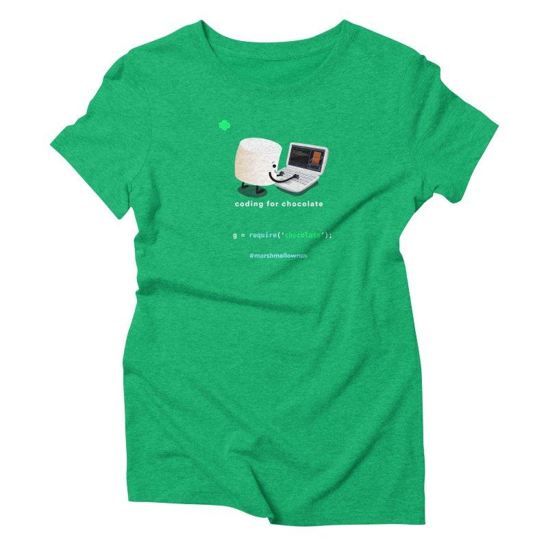 coding for chocolate Women's Triblend T-Shirt by marshmallowrun's Artist Shop