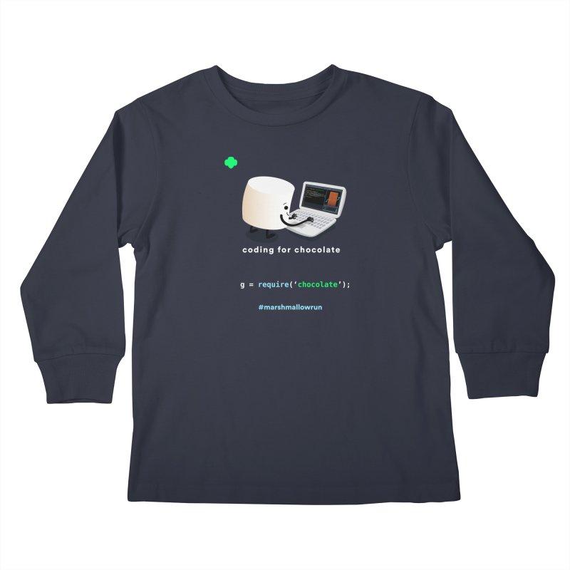 coding for chocolate Kids Longsleeve T-Shirt by marshmallowrun's Artist Shop