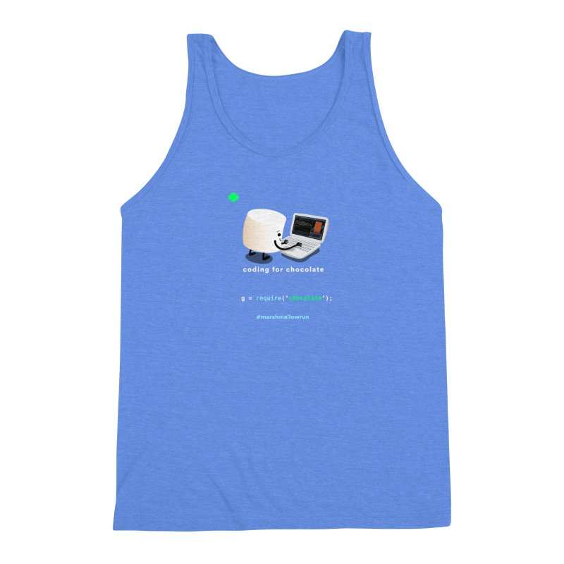 coding for chocolate Men's Triblend Tank by marshmallowrun's Artist Shop