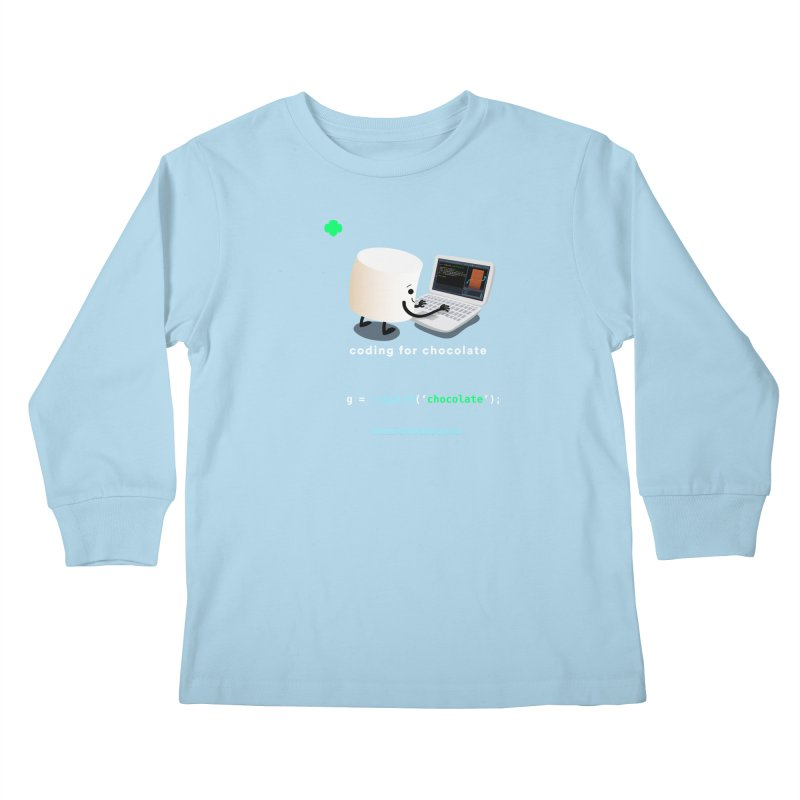 coding for chocolate Kids Longsleeve T-Shirt by marshmallowrun's Artist Shop
