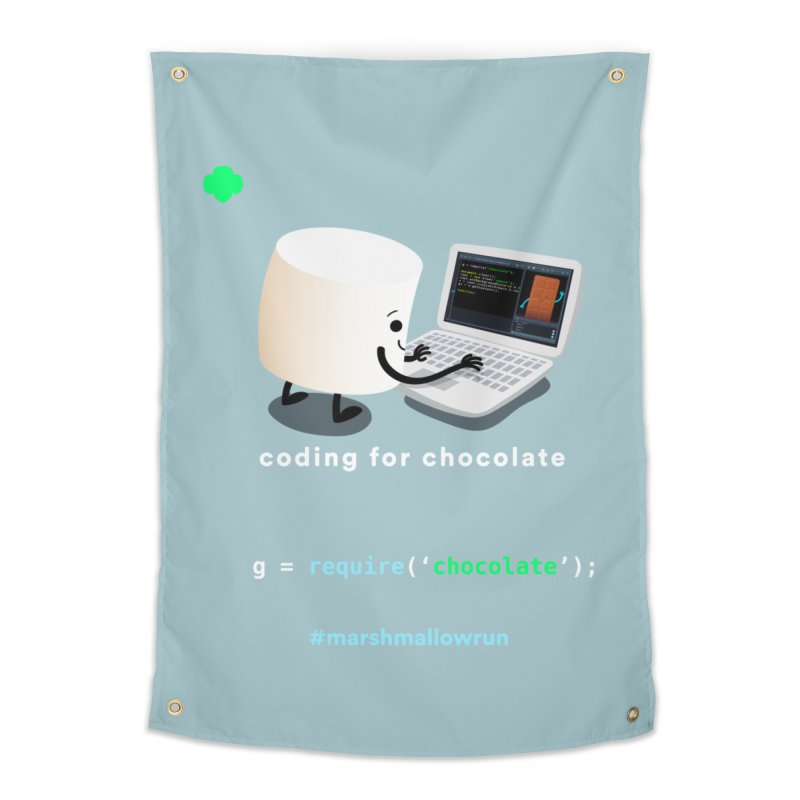 coding for chocolate Home Tapestry by marshmallowrun's Artist Shop