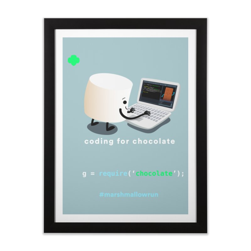coding for chocolate Home Framed Fine Art Print by marshmallowrun's Artist Shop