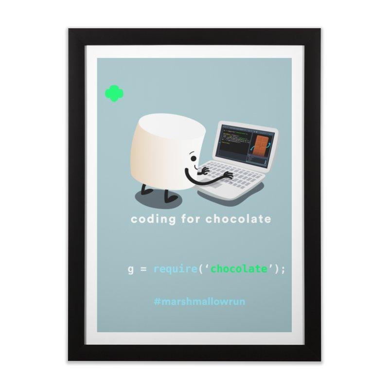 coding for chocolate Home Framed Fine Art Print by marshmallowrun's Artist Shop