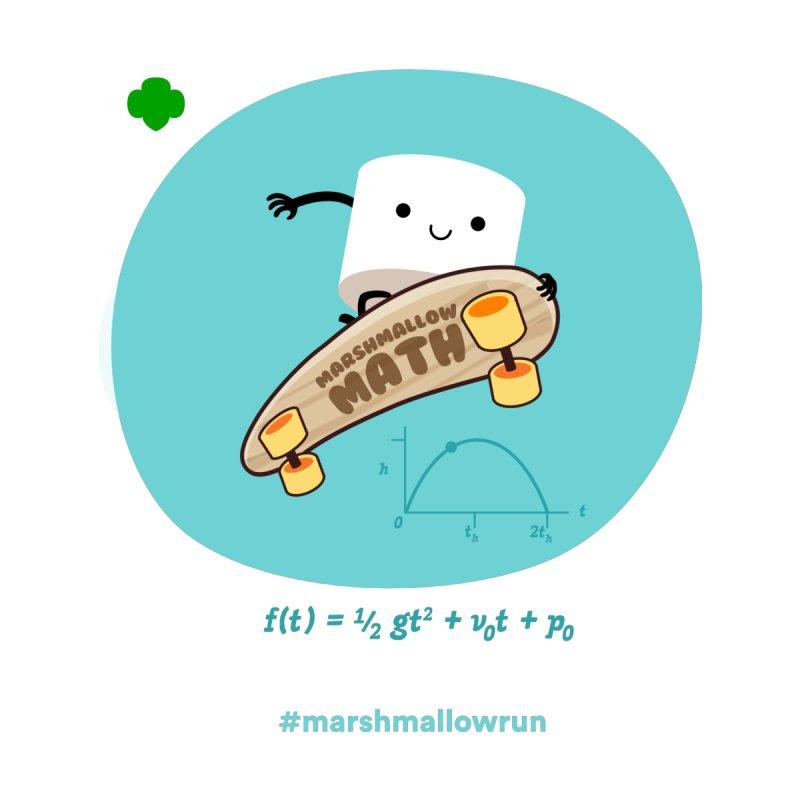 Marshmallow Math for white T Women's V-Neck by marshmallowrun's Artist Shop