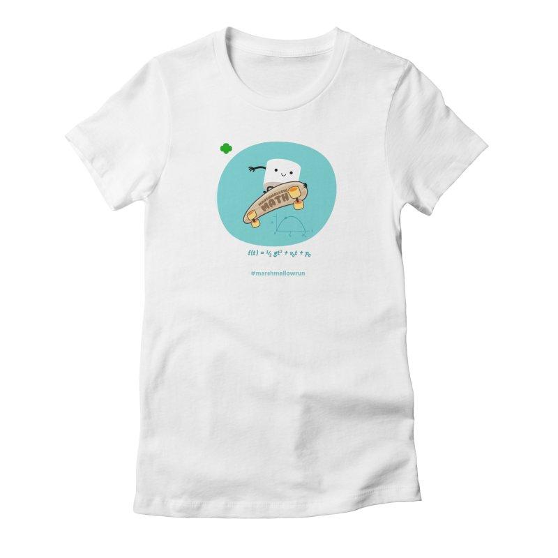 Marshmallow Math for white T Women's T-Shirt by marshmallowrun's Artist Shop