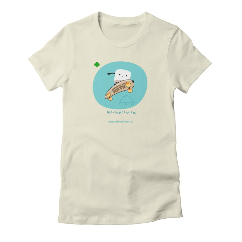 Marshmallow Math for white T Women's Fitted T-Shirt by marshmallowrun's Artist Shop