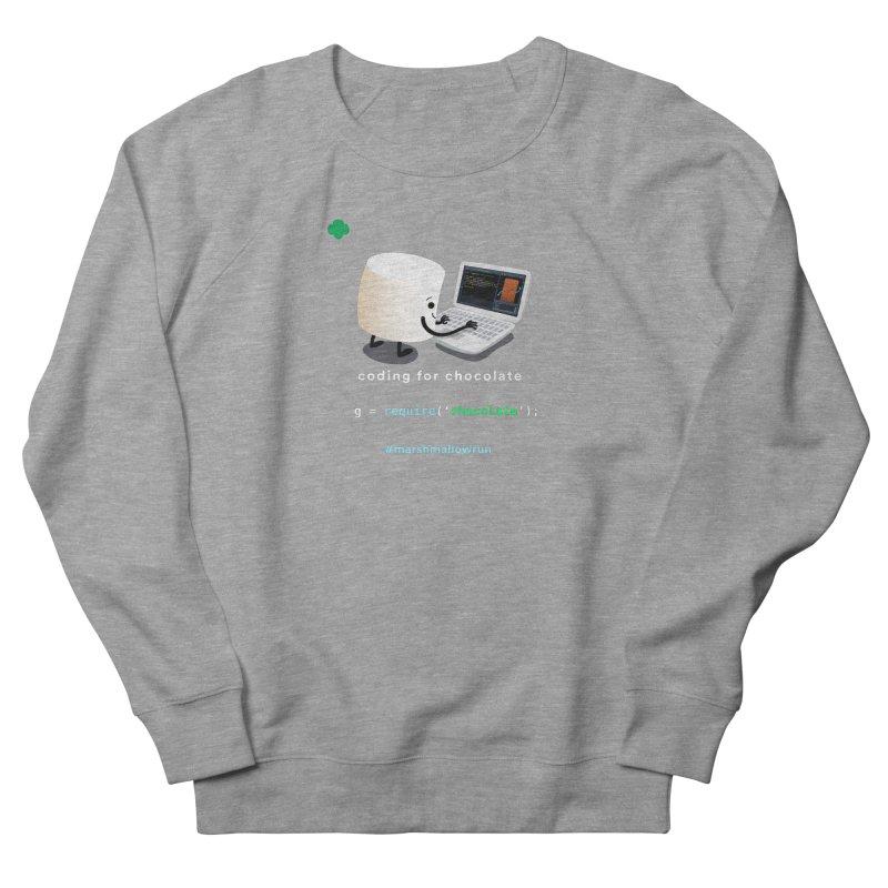 Chocolate Light Women's French Terry Sweatshirt by marshmallowrun's Artist Shop