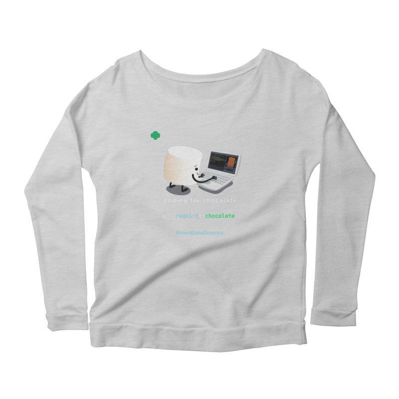 Chocolate Light Women's Scoop Neck Longsleeve T-Shirt by marshmallowrun's Artist Shop