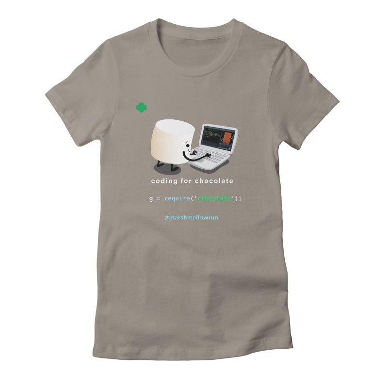 Chocolate Light Women's T-Shirt by marshmallowrun's Artist Shop