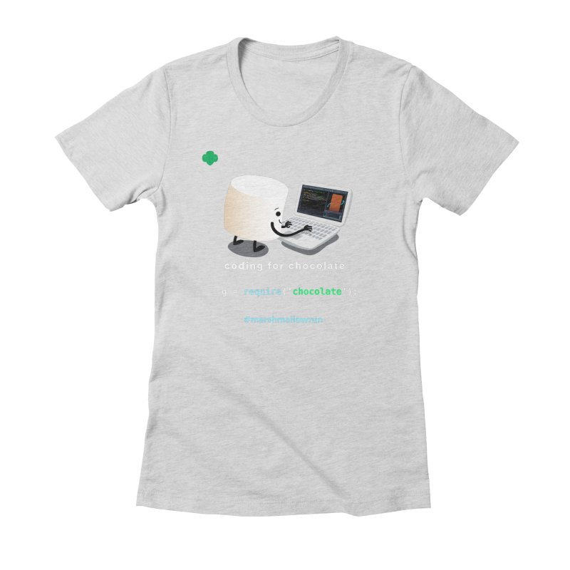 Chocolate Light Women's Fitted T-Shirt by marshmallowrun's Artist Shop