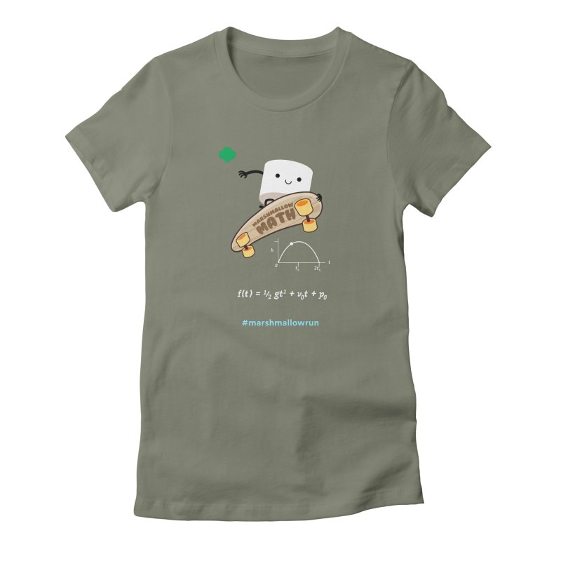 Marshmallow Math 3.0 Women's Fitted T-Shirt by marshmallowrun's Artist Shop