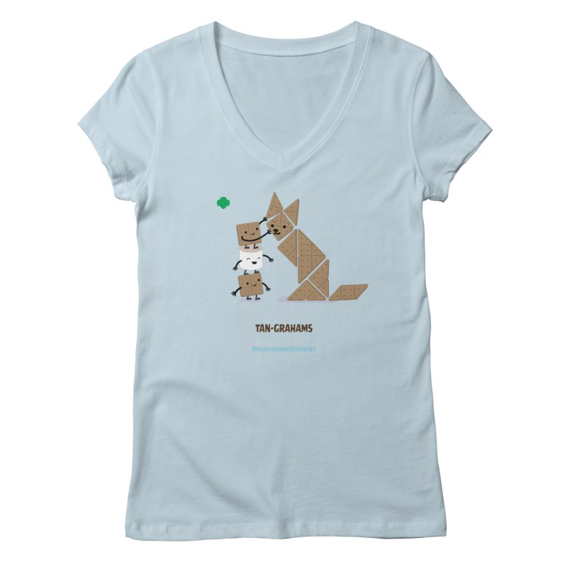 Graham Women's V-Neck by marshmallowrun's Artist Shop