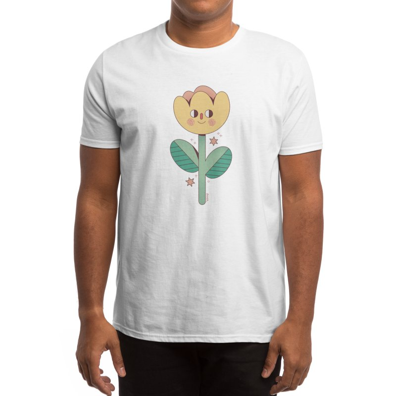 Smiling Flower Men's T-Shirt by Marta Barrales Illustration