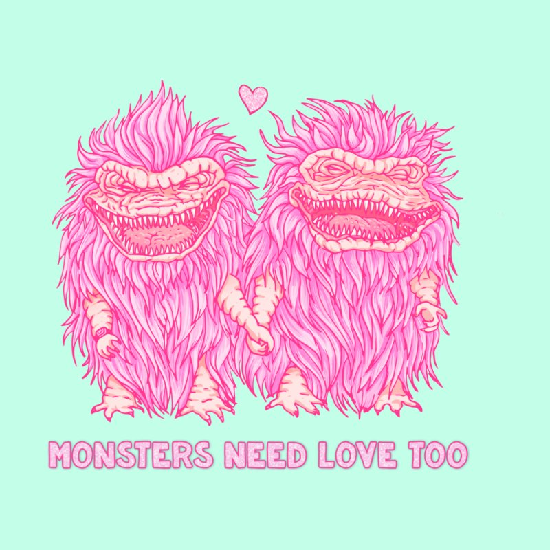 monsters need love too, A tribute to The Critters by Zubieta's Artist Shop