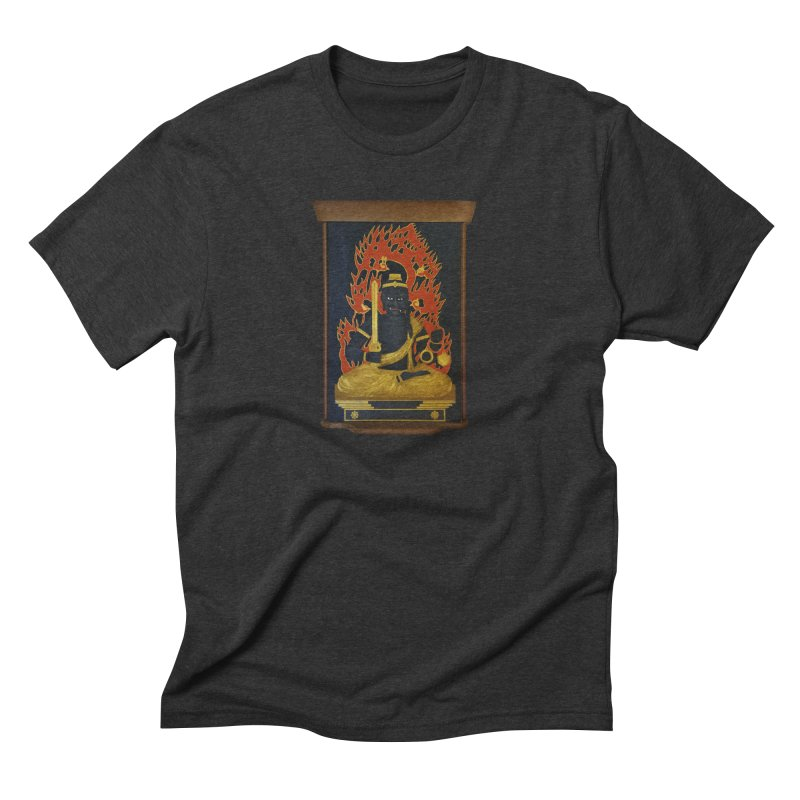 Fudo Myoo in Men's Triblend T-Shirt Heather Onyx by The Martial Arts Academy's Store