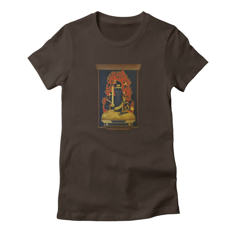 Fudo Myoo in Women's Fitted T-Shirt Chocolate by The Martial Arts Academy's Store