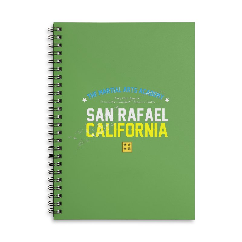 Old School, White Type Accessories Lined Spiral Notebook by The Martial Arts Academy's Store