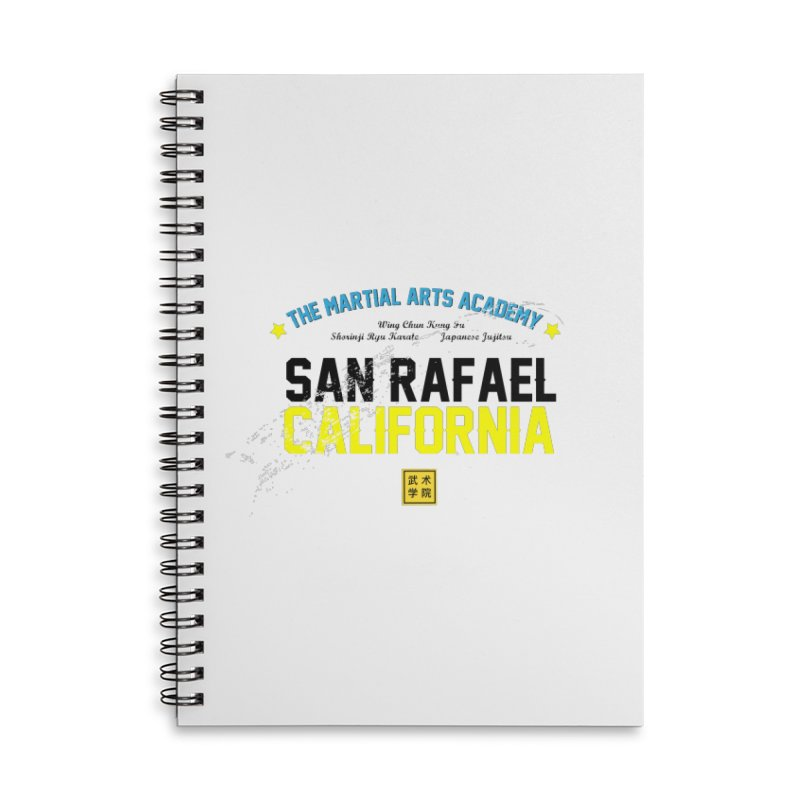 Old School, Black Type Accessories Lined Spiral Notebook by The Martial Arts Academy's Store