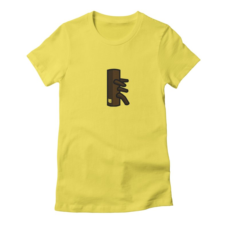 Dummy in Women's Fitted T-Shirt Vibrant Yellow by The Martial Arts Academy's Store
