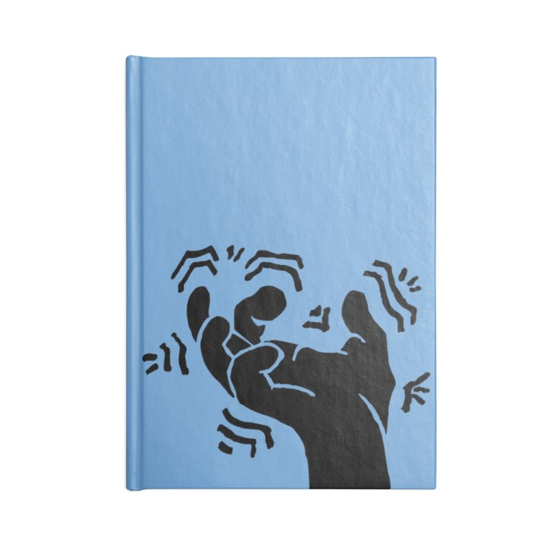 Savage Hand Black Accessories Lined Journal Notebook by The Martial Arts Academy's Store