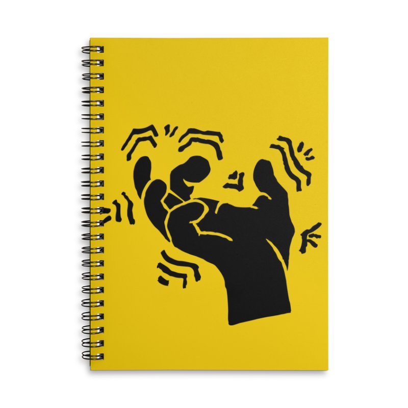 Savage Hand Black Accessories Lined Spiral Notebook by The Martial Arts Academy's Store