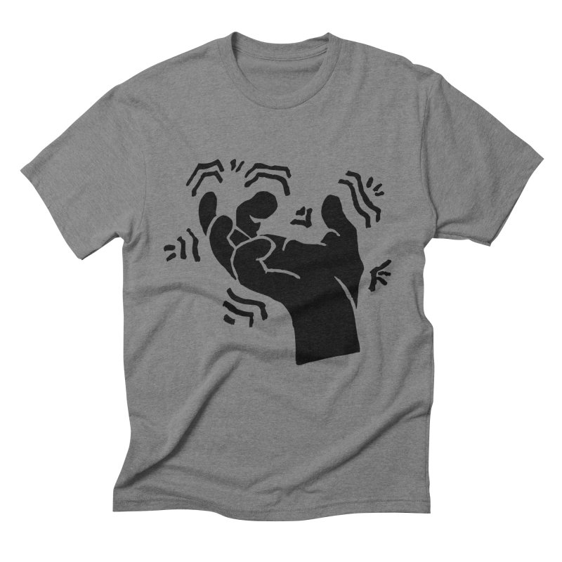 Savage Hand Black in Men's Triblend T-Shirt Grey Triblend by The Martial Arts Academy's Store