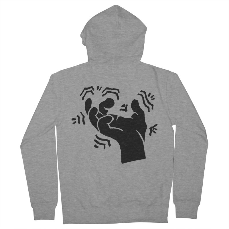 Savage Hand Black Women's French Terry Zip-Up Hoody by The Martial Arts Academy's Store