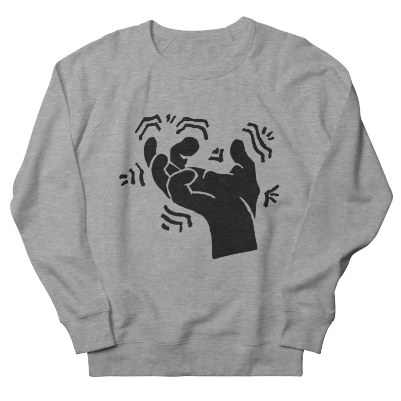 Savage Hand Black Men's French Terry Sweatshirt by The Martial Arts Academy's Store