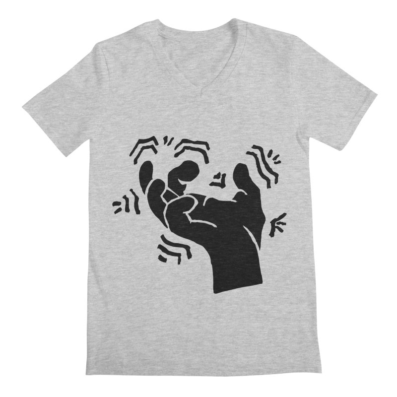 Savage Hand Black Men's V-Neck by The Martial Arts Academy's Store