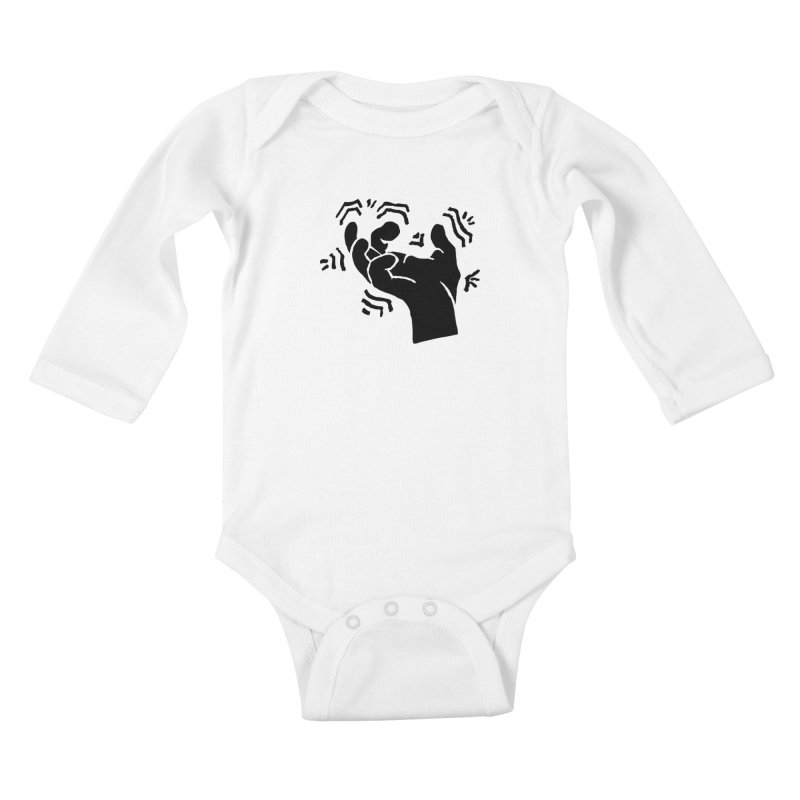 Savage Hand Black Kids Baby Longsleeve Bodysuit by The Martial Arts Academy's Store