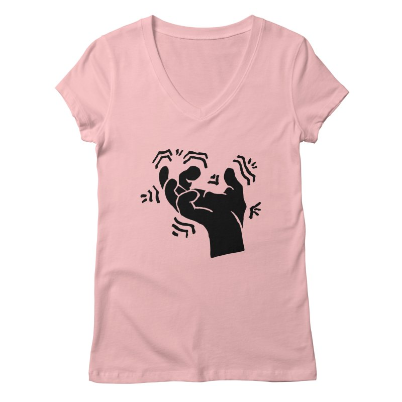 Savage Hand Black Women's V-Neck by The Martial Arts Academy's Store