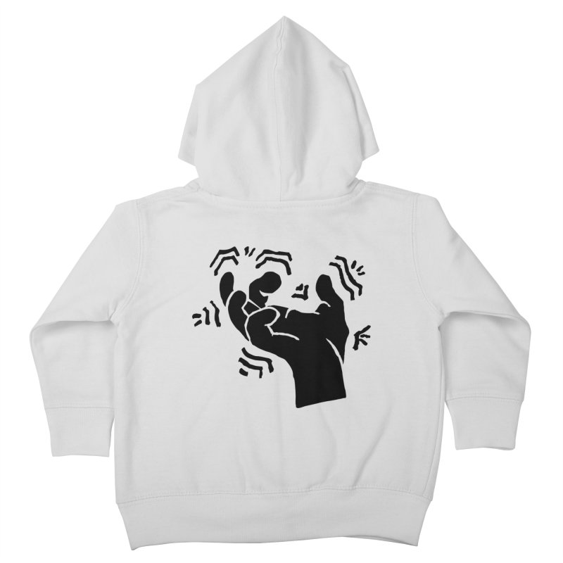 Savage Hand Black Kids Toddler Zip-Up Hoody by The Martial Arts Academy's Store