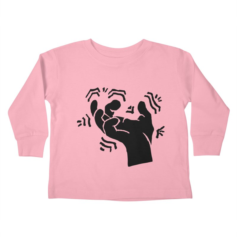 Savage Hand Black Kids Toddler Longsleeve T-Shirt by The Martial Arts Academy's Store