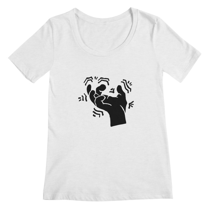 Savage Hand Black Women's Regular Scoop Neck by The Martial Arts Academy's Store