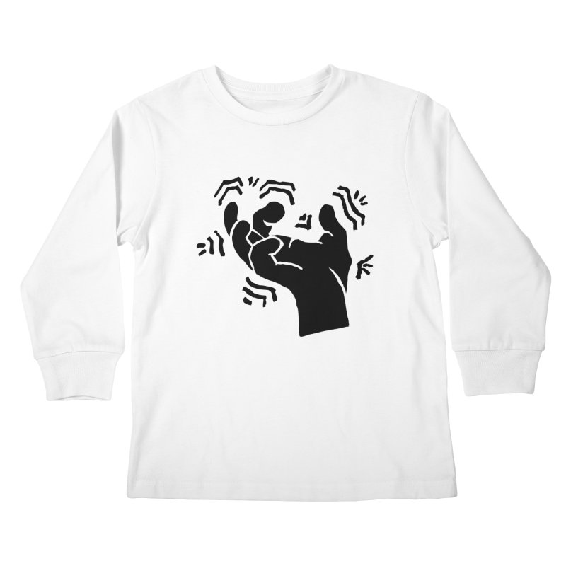 Savage Hand Black Kids Longsleeve T-Shirt by The Martial Arts Academy's Store