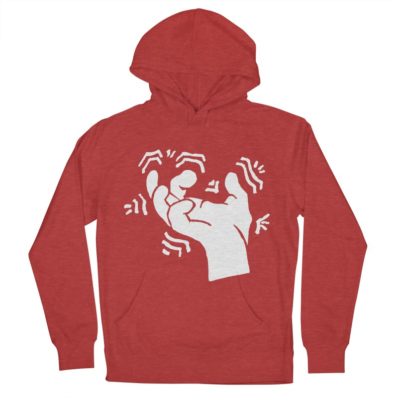 Savage Hand White Women's French Terry Pullover Hoody by The Martial Arts Academy's Store