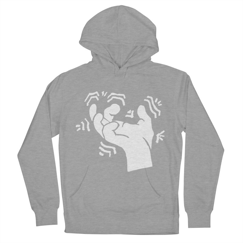 Savage Hand White Men's French Terry Pullover Hoody by The Martial Arts Academy's Store