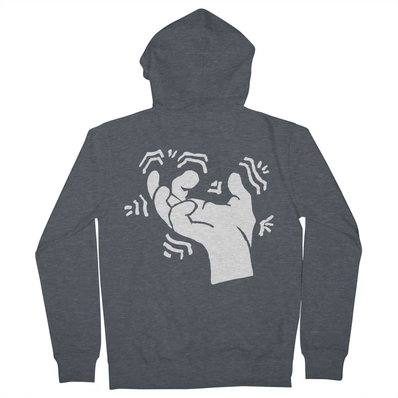 Savage Hand White Men's Zip-Up Hoody by The Martial Arts Academy's Store