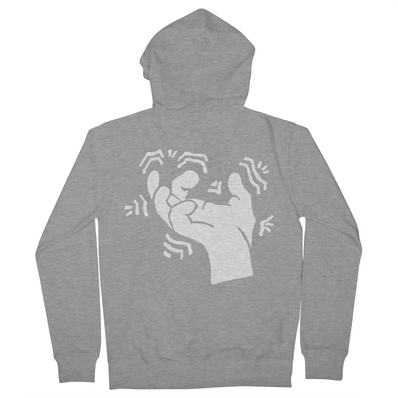 Savage Hand White Men's French Terry Zip-Up Hoody by The Martial Arts Academy's Store
