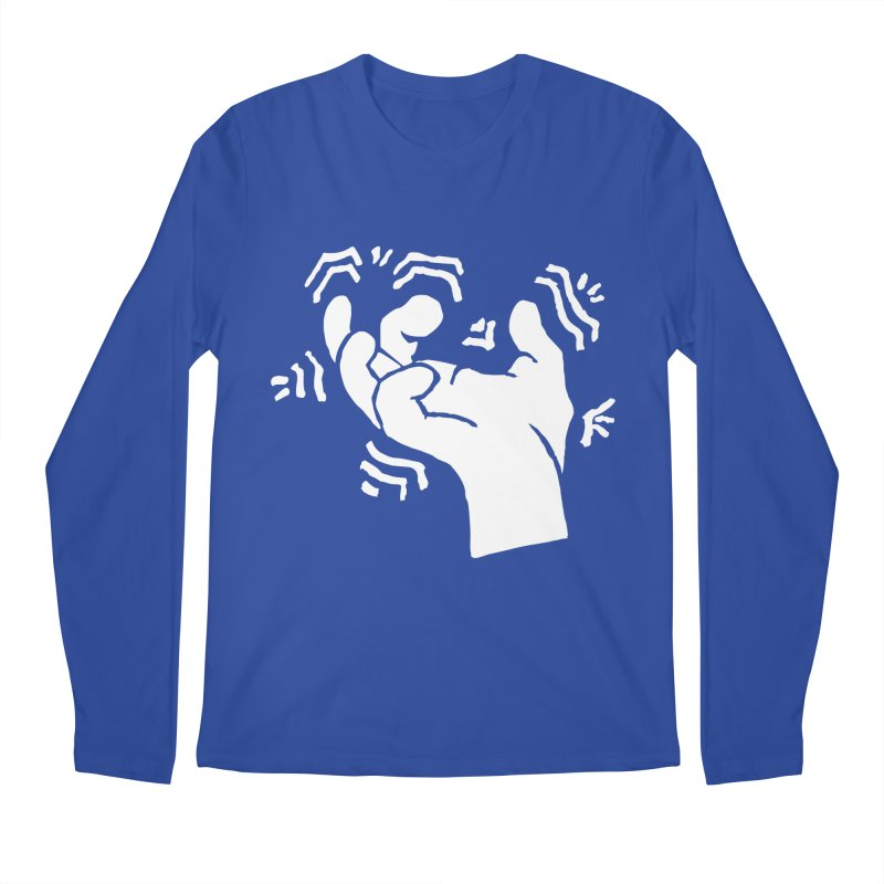 Savage Hand White Men's Regular Longsleeve T-Shirt by The Martial Arts Academy's Store