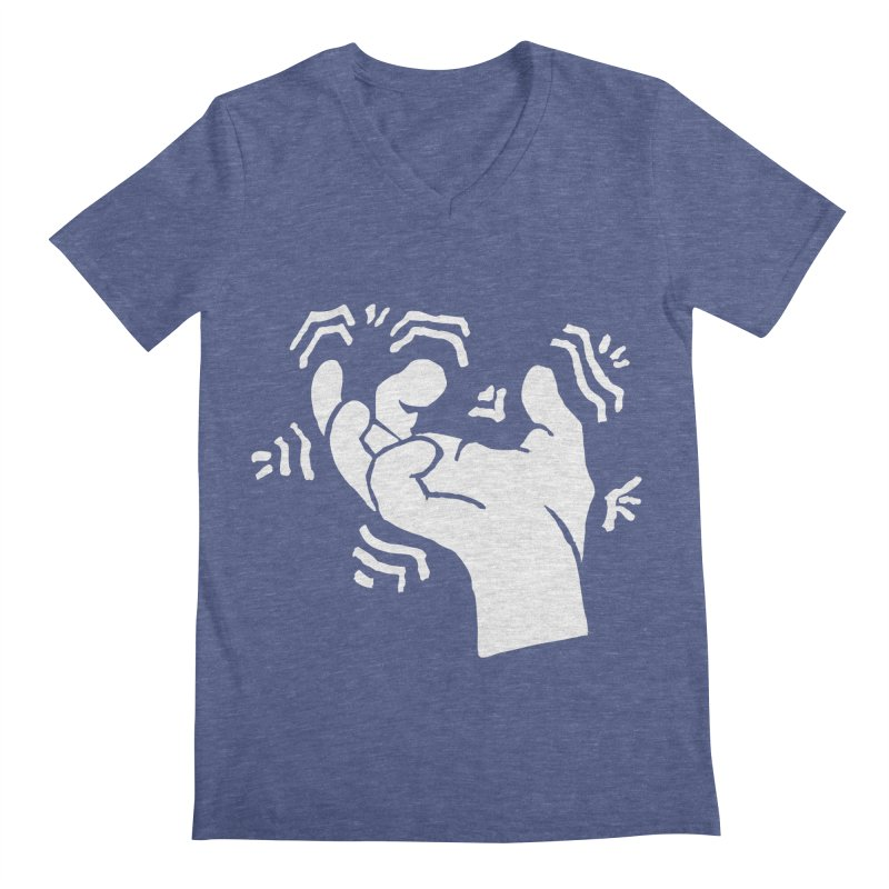 Savage Hand White Men's V-Neck by The Martial Arts Academy's Store
