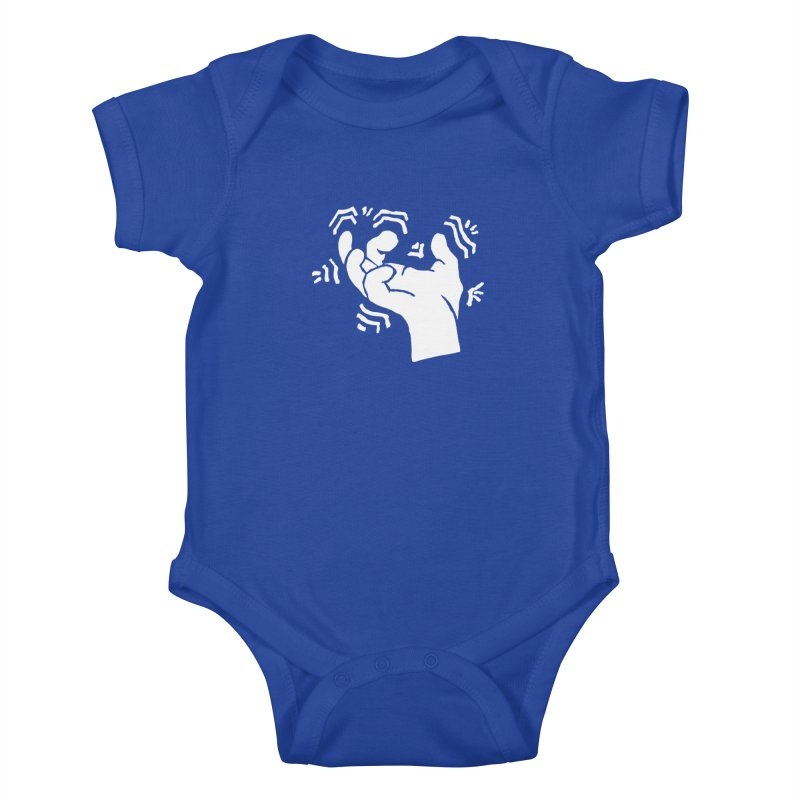 Savage Hand White Kids Baby Bodysuit by The Martial Arts Academy's Store