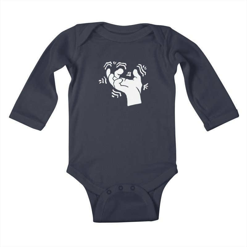 Savage Hand White Kids Baby Longsleeve Bodysuit by The Martial Arts Academy's Store